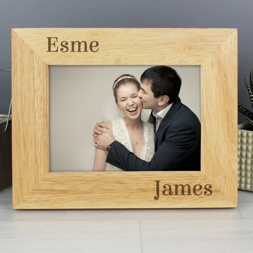 Couples Wooden Photo Frame - 7 x 5