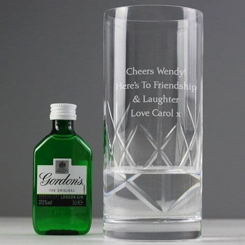 Cut Crystal & Gin Gift Set