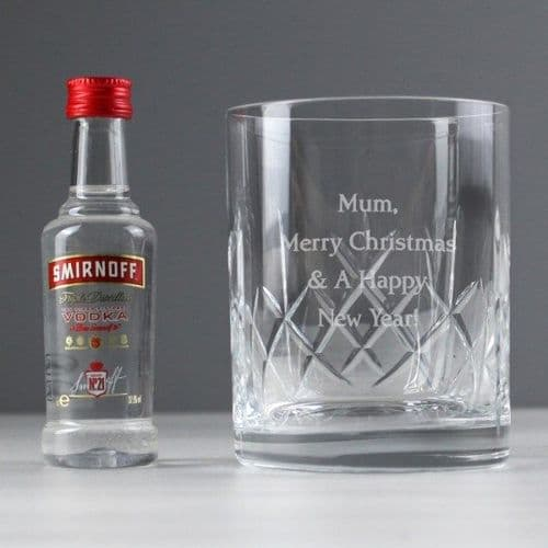 Cut Crystal & Vodka Gift Set