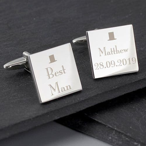 Decorative Wedding Best Man Square Cufflinks