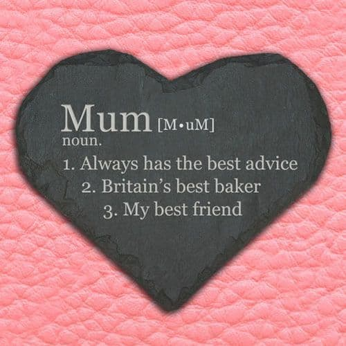 Definition of Mummy Heart Slate Keepsake