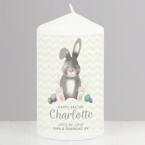Easter Bunny Pillar Candle