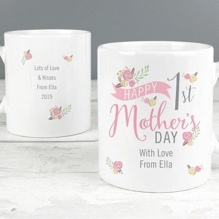Floral Bouquet 1st Mothers Day Mug