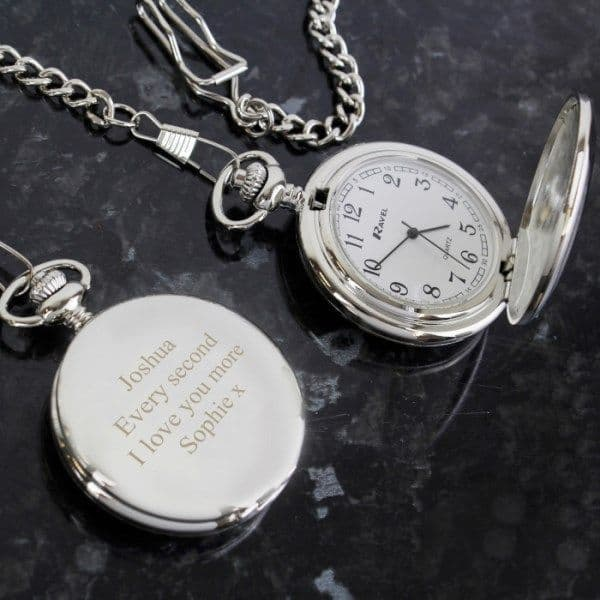 Personalised Formal Pocket Fob Watch - Ideal gift for Fathers Day, Birthday, Wedding.