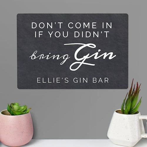 Gin Metal Sign
