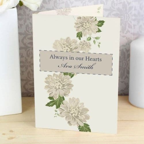 Gold Floral Card