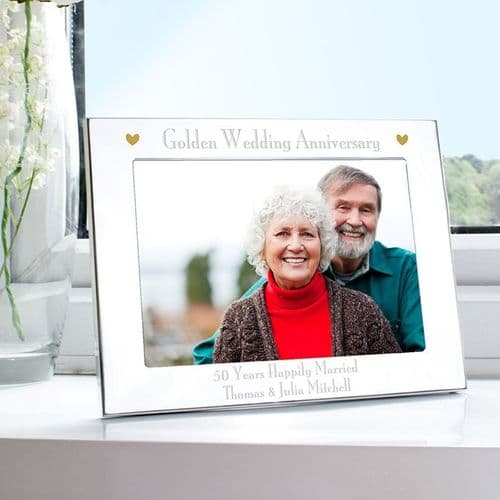 Golden Anniversary Landscape Photo Frame