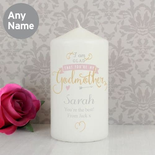 I Am Glad... Godmother Candle