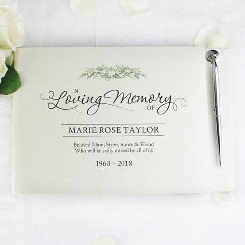 In Loving Memory Guest Book & Pen