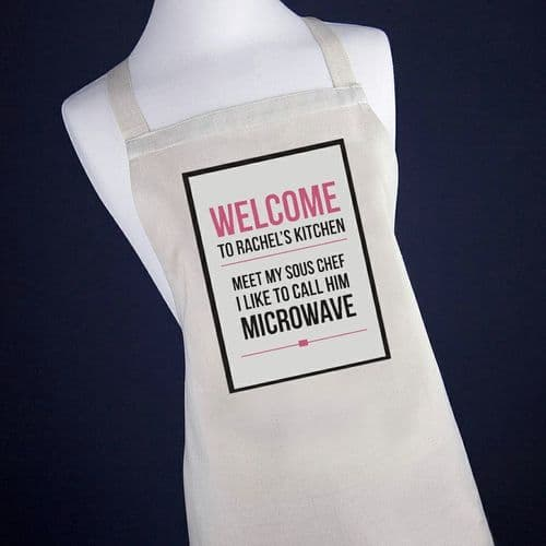Microwave Apron (Pink or Blue)