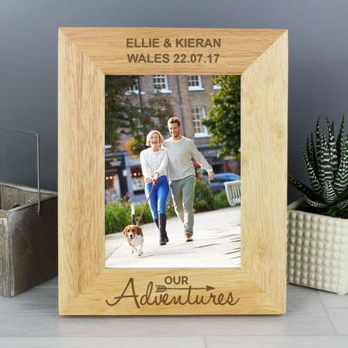 Our Adventures 5x7 Wooden Photo Frame