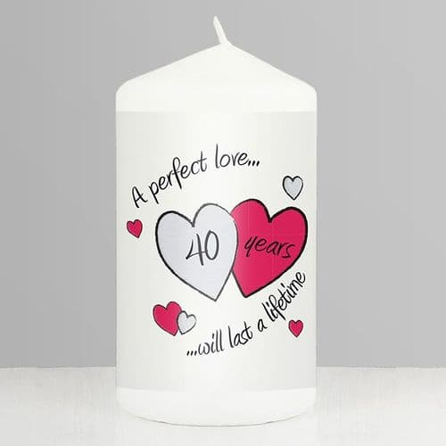 Perfect Love Ruby Anniversary Candle