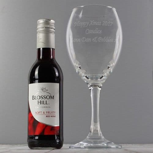 Red Wine & Wine Glass Set