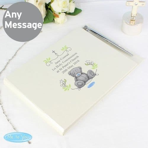 Religious Cross Hardback Guest Book & Pen