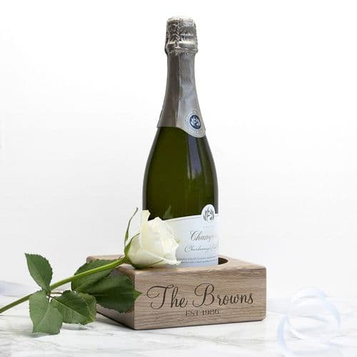 Solid Oak Champagne Holder