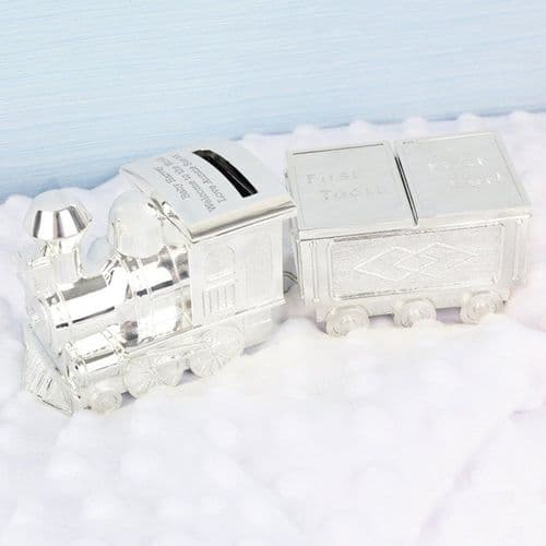 Train Money Box with Tooth & Curl Trinket Box
