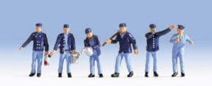 Locomotive Drivers (3) and Shunters (3) Figure Set - Epoch 3