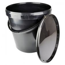 Black Bucket and Lid