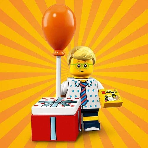 Birthday Party Boy Lego Minifigure from Series 18