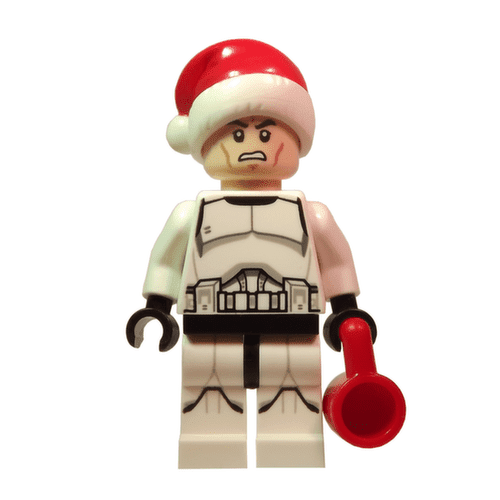 Clone Trooper with Santa Hat Lego Star Wars Minifigure