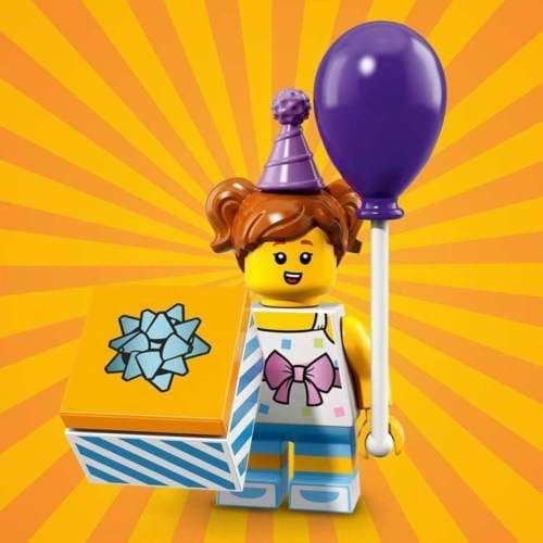 Lego Birthday Party Girl Minifigure from Series 18