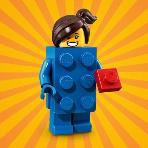 Lego Blue Brick Suit Girl Minifigure from Series 18