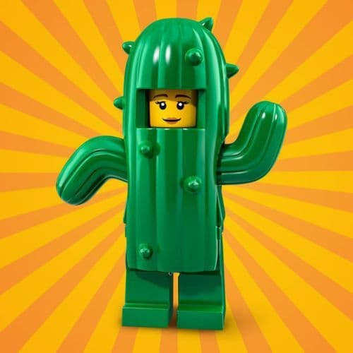 Lego Cactus Girl Minifigure from Series 18