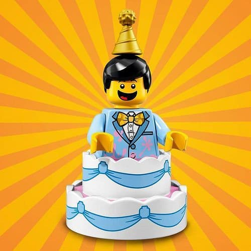 Lego Cake Guy Minifigure from Series 18