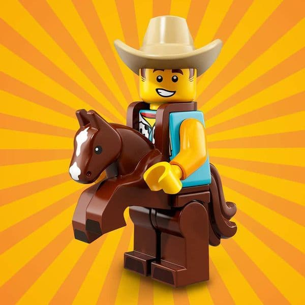 Lego Cowboy Costume Guy Minifigure from Series 18