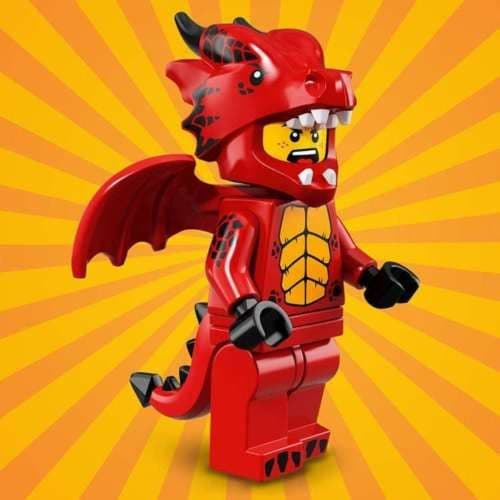 Lego Dragon Suit Guy Minifigure from Series 18