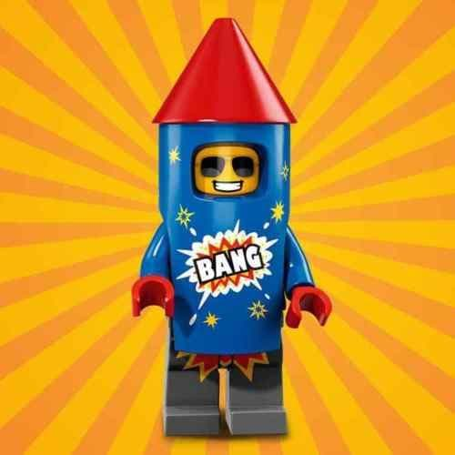 Lego Firework Guy Minifigure from Series 18