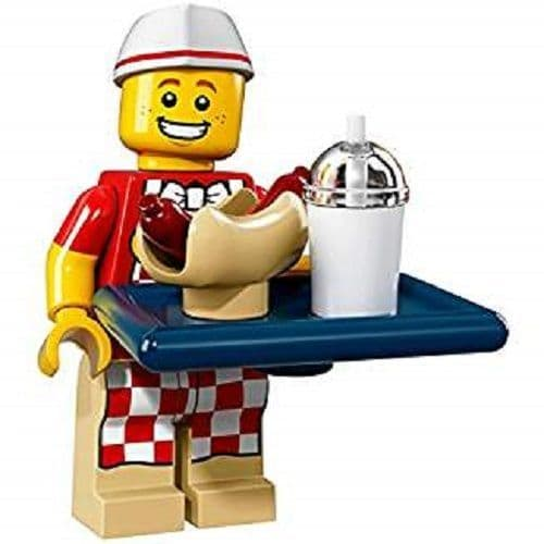 Lego Minifigure Hot Dog Vendor from Series 17