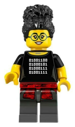 Lego Programmer Minifigure from Series 19