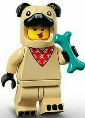 Lego Pug Costume Guy Minifigure Series 21