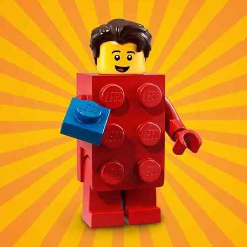 Lego Red Brick Suit Guy Minifigure from Series 18