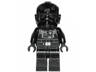 Lego Tie Fighter Pilot Star Wars Minifigure 75056