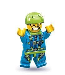 Skydiver Lego Minifigure from Series 10 Minifigures (10)