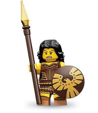 Warrior Woman Lego Minifigure from Series 10 Minifigures