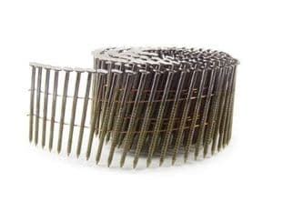 2.5 x 64mm Galvanised Ring Flat Coil Nails (9,000)