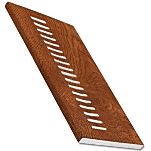 Golden Oak uPVC Vented Soffit Board 9mm 5mt 300mm