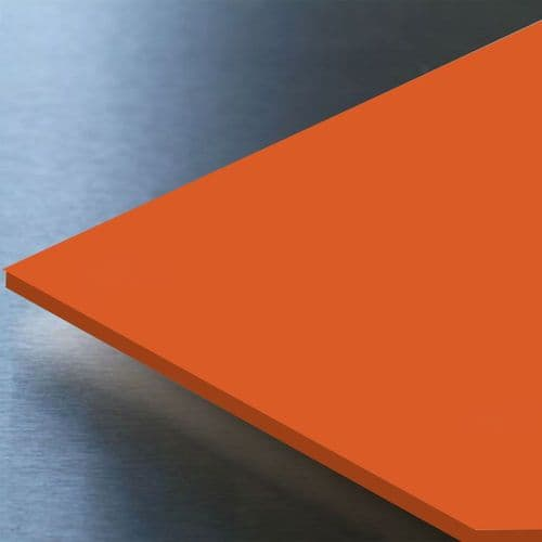 Hygienic Wall Cladding  Orange 8ft x 4ft