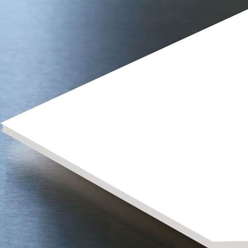 Hygienic Wall Cladding Satin White 8ft x 4ft x 2mm