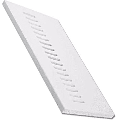 White uPVC Vented Soffit Board 9mm 5mt 605mm