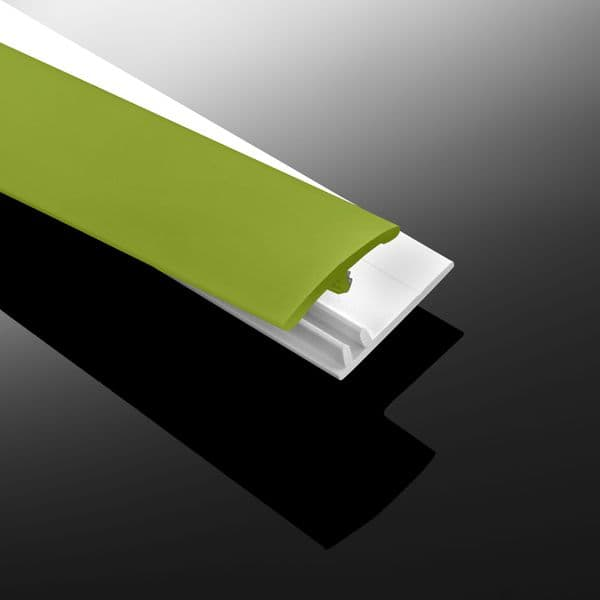 Lime Green Gloss Wall Cladding Transition Strip