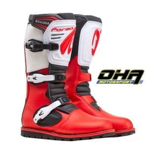 Forma Boulder LE Trials Boots - Red / White - LIMITED EDITION