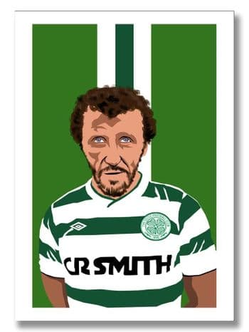 Danny McGrain Celtic Legend A3 Prints