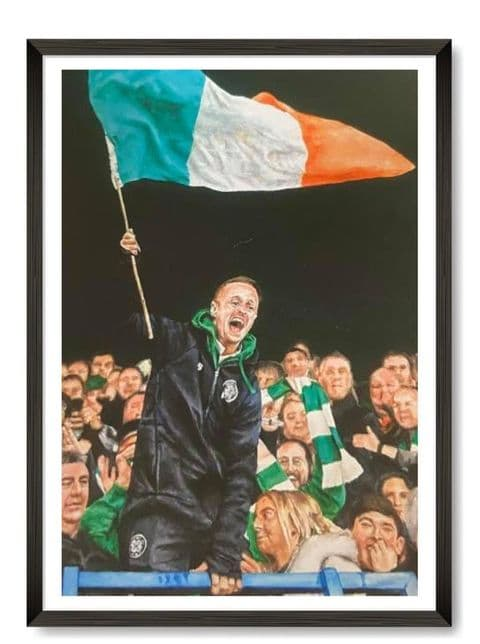 Celtic's Leigh Griffiths Waving the Irish Flag at Ibrox