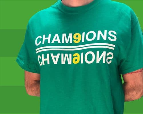 Celtic's 9 in a row Cham9ions T-shirt