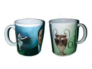 Jock Stein Celtic 1967 European Cup Mug, 1 Side