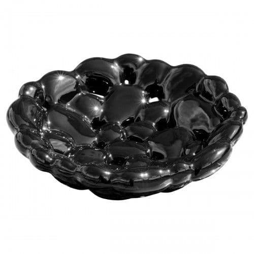 Ceramic Black Fruit Bubble bowl